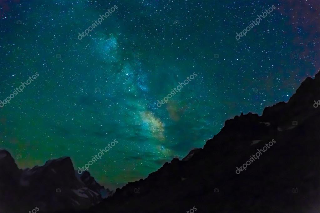 Night mountain landscape