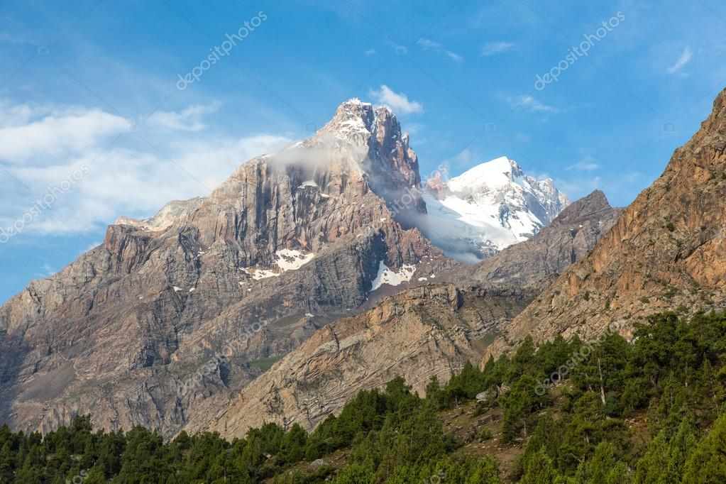 Mountain peak in Fan Mountains