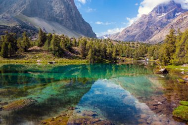 Mountain lake view horizontal