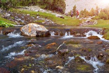Fast mountain creek