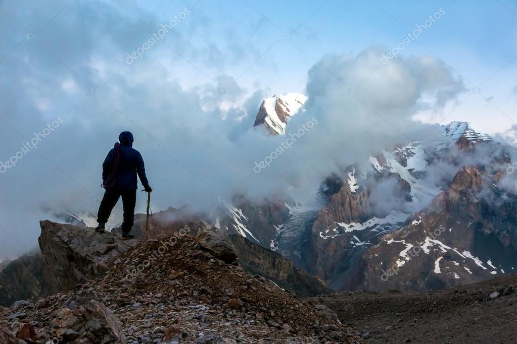 Mountain Climber on Summit