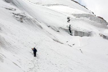 """Картина, постер, плакат, фотообои """"Alpine Партнеры ходьбы по снегу Trail"""", артикул 83125456"""