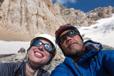 Joyful Alpine Climbers Self Portrait