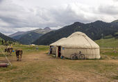 Photo Yurt in Central Asian Veld