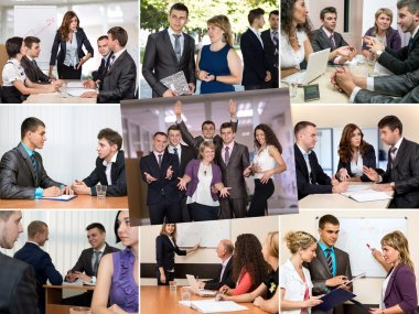 Photo Collage telling Story of Business Team Success