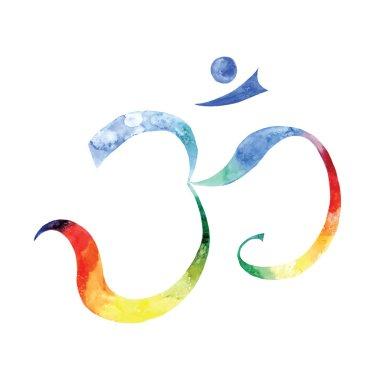 Watercolor Aum Symbol