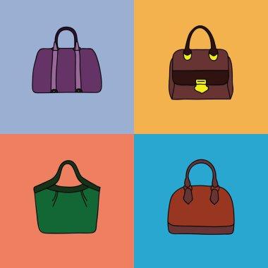 Bright handbags set.