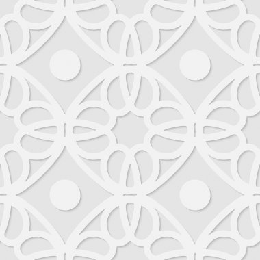 Vector 3d seamless geometric pattern background. Minimalistic volumetric monochrome background for decoration, wallpaper and print. clip art vector