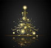 Vánoční pozadí s vánoční stromeček