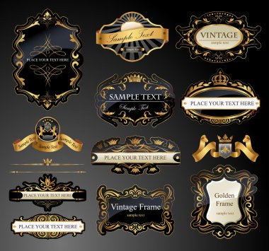 Frames and ornamental labels