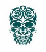 Fotografia arte ornamentale di un cranio