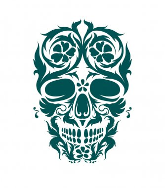 Ornamental art of a skull