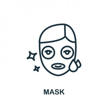 Mask icon. Simple illustration from cosmetology collection. Monochrome Mask icon for web design, templates and infographics. icon