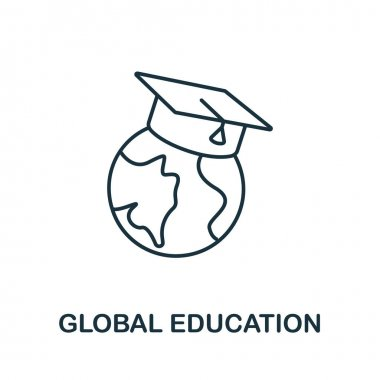 Global Education icon from education collection. Simple line Global Education icon for templates, web design and infographics. icon
