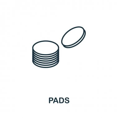 Pads icon. Simple illustration from personal hygiene collection. Monochrome Pads icon for web design, templates and infographics. icon