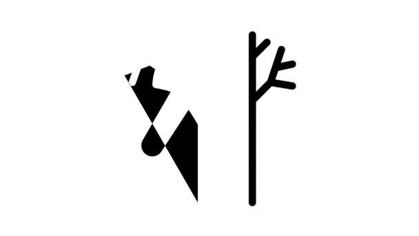 Waldarbeiter-Ikone Animation