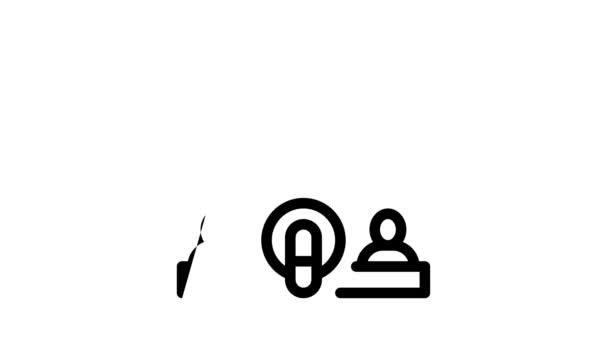Podcast und Radio-Icon-Animation