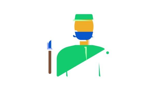 Golf Spiel Ausrüstung Ikone Animation