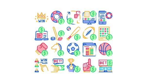 Animace ikon sázení a hazardních her
