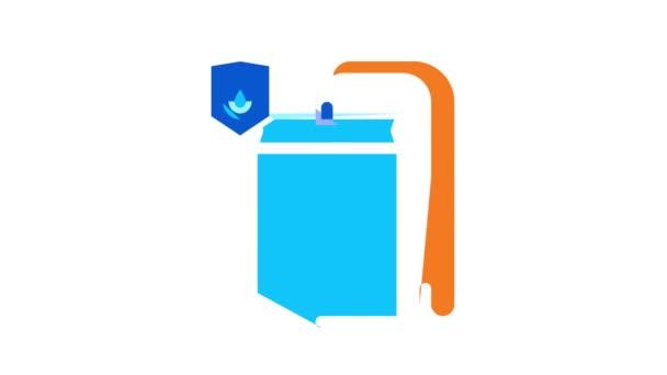 Animace ikon vodotěsných materiálů