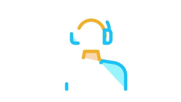 Webshop Call Center Betreiber Icon Animation