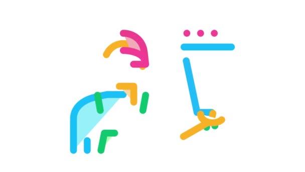 virágüzlet futár szállítás ikon animáció