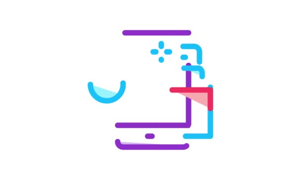 disinfection mobile phone Icon Animation