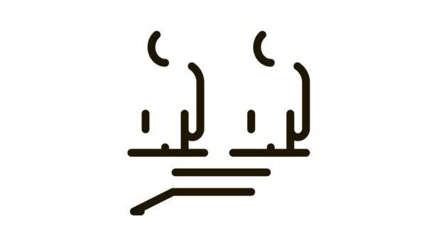 Verschiedene Rassen menschliches Gleichgewicht auf der Waage Icon Animation