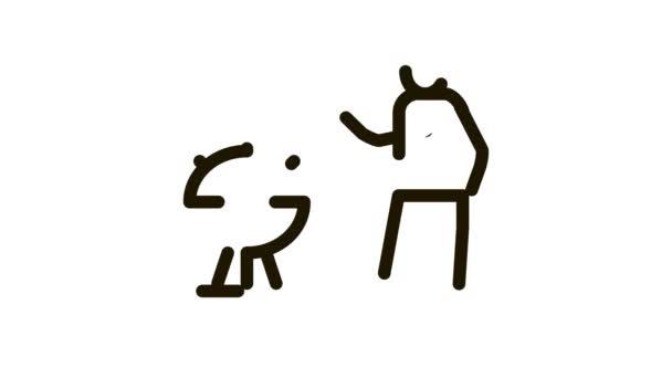 emberi főzés bbq ikon animáció