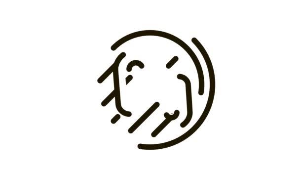 smažení masa na ikonu bbq Animation