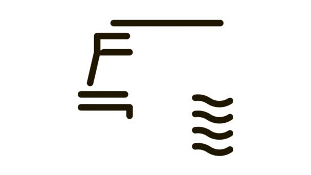 Wasserstandsmesser-Symbol skizziert Abbildung