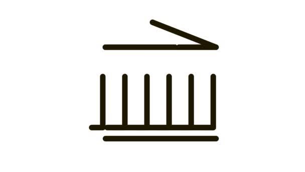 greek columns building Icon Animation