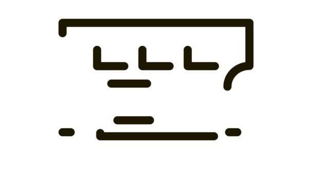 Lottó Jegy ikon Animáció