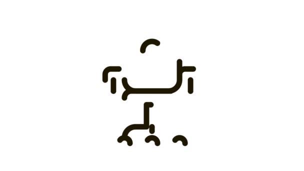 Bürostuhl und Fragezeichen Job Hunting Icon Animation