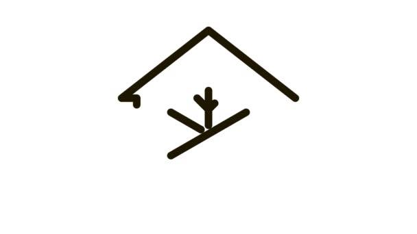 Icon Animation: Gebäude und Kühlanlagen für Schneeflocken