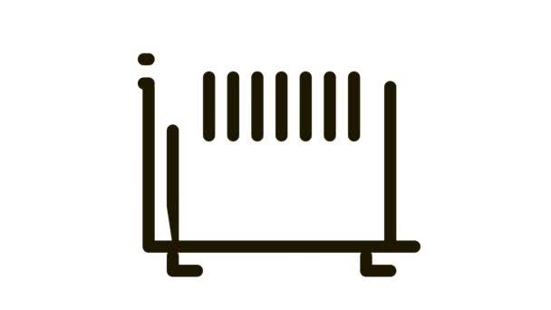 Home Wasserkühler Heizung Ausrüstung Icon Animation