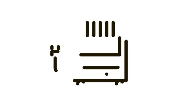 Přenosný vzduchový klimatický systém na ikonové animaci
