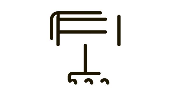 Tragbares Heizgerät auf Rollen Icon Animation
