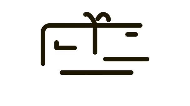 Dárkový kupón s animací ikon luku