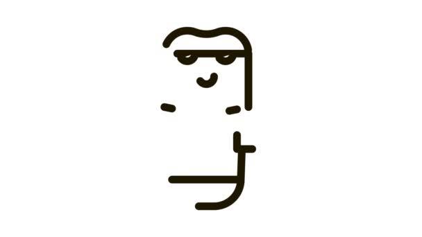 Elektronikus borotválkozó gép ikon animáció