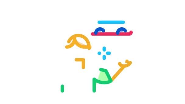 Maschinenverkäufer Icon Animation