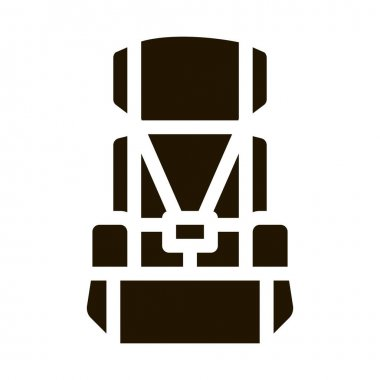 Child Seat Chair glyph icon vector. Child Seat Chair Sign. isolated symbol illustration icon