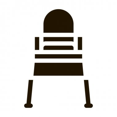Chair For Feeding glyph icon vector. Chair For Feeding Sign. isolated symbol illustration icon