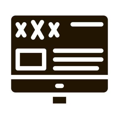 Porn Web Site glyph icon vector. Porn Web Site Sign. isolated symbol illustration icon
