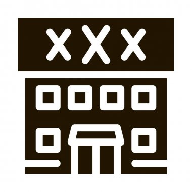 Sex Shop Building glyph icon vector. Sex Shop Building Sign. isolated symbol illustration icon