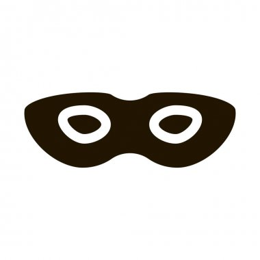 Sex Face Mask glyph icon vector. Sex Face Mask Sign. isolated symbol illustration icon