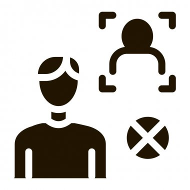 Fake Man Identity glyph icon vector. Fake Man Identity Sign. isolated symbol illustration icon