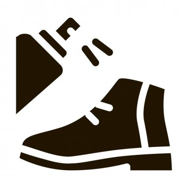 Spray Paint Shoe glyph icon vector. Spray Paint Shoe Sign. isolated symbol illustration icon