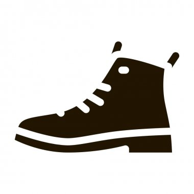 Repaired Shoe glyph icon vector. Repaired Shoe Sign. isolated symbol illustration icon