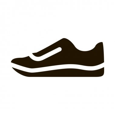 Sneaker Shoe glyph icon vector. Sneaker Shoe Sign. isolated symbol illustration icon